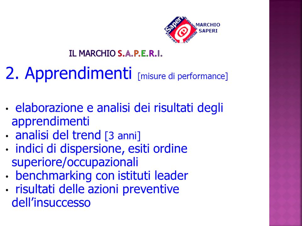 2. Apprendimenti [misure di performance]